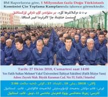 """""""Çin'in Toplama Kamplarındaki Doğu Türkistanlıların Akıbeti""""konulu Panel Duyurusu"""
