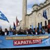 Saraçhane Parkı'nda Doğu Türkistan Protestosu