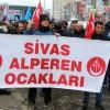 Sivas'ta Alperen Ocakları'ndan 'Doğu Türkistan' yürüyüşü